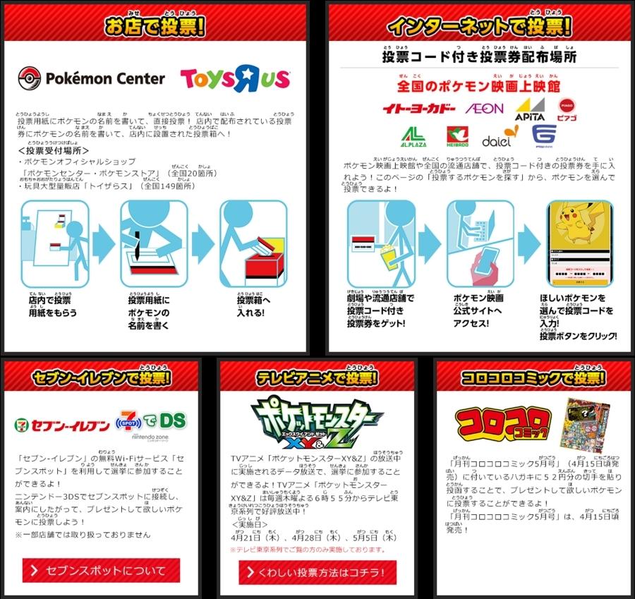 ポケモン総選挙720 投票方法