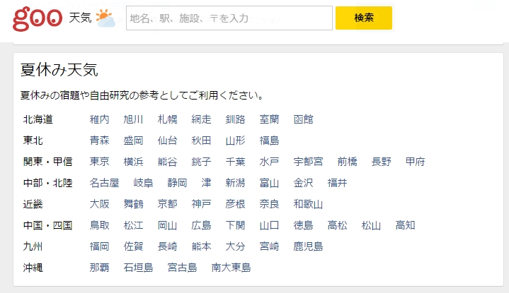 goo天気1