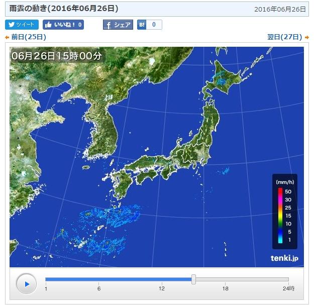 日本気象協会 雨雲の動き